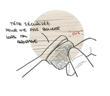 illustration déclipsage tête brosse à dent caliquo
