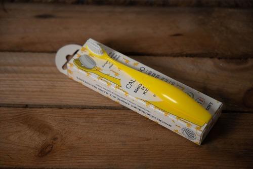 brosse à dent bioplastique enfant jaune