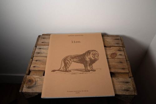 cahier lion papier recyclé