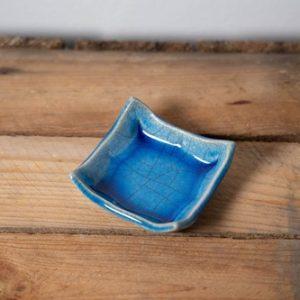 coupelle bourse à thé bleu