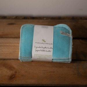 lingettes wc lavable bleu tahiti