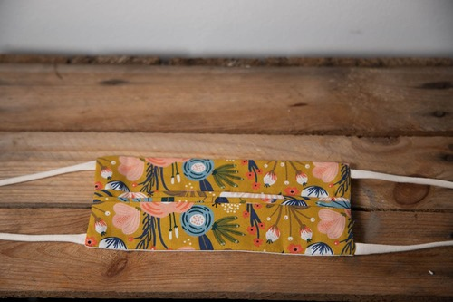 masque adulte floral moutarde