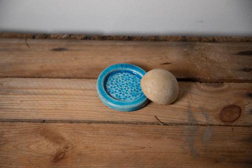 porte déodorant solide bleu artisanal
