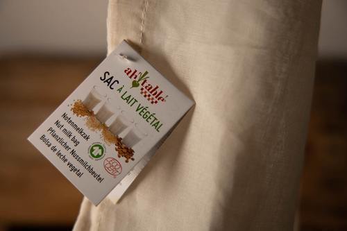 sac à lait végétal écoresponsable