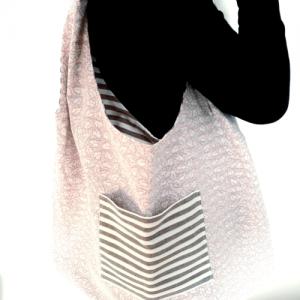 sac zéro déchet motif rayures recto